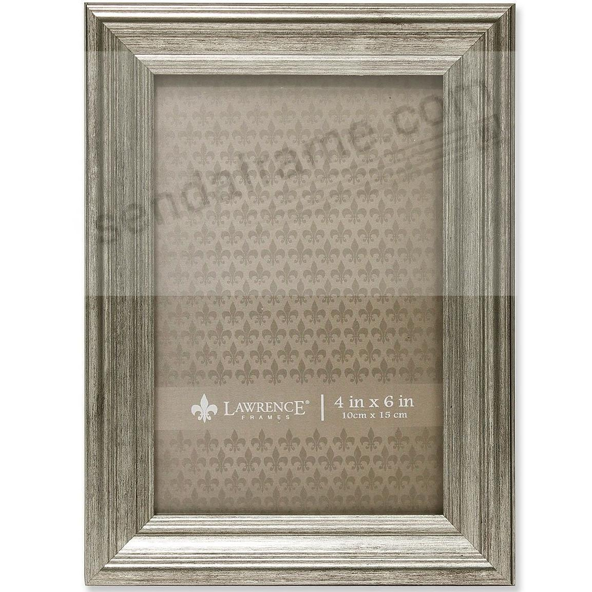 SUTTER Satin Silver composite wood 4x6 frame by Lawrence®