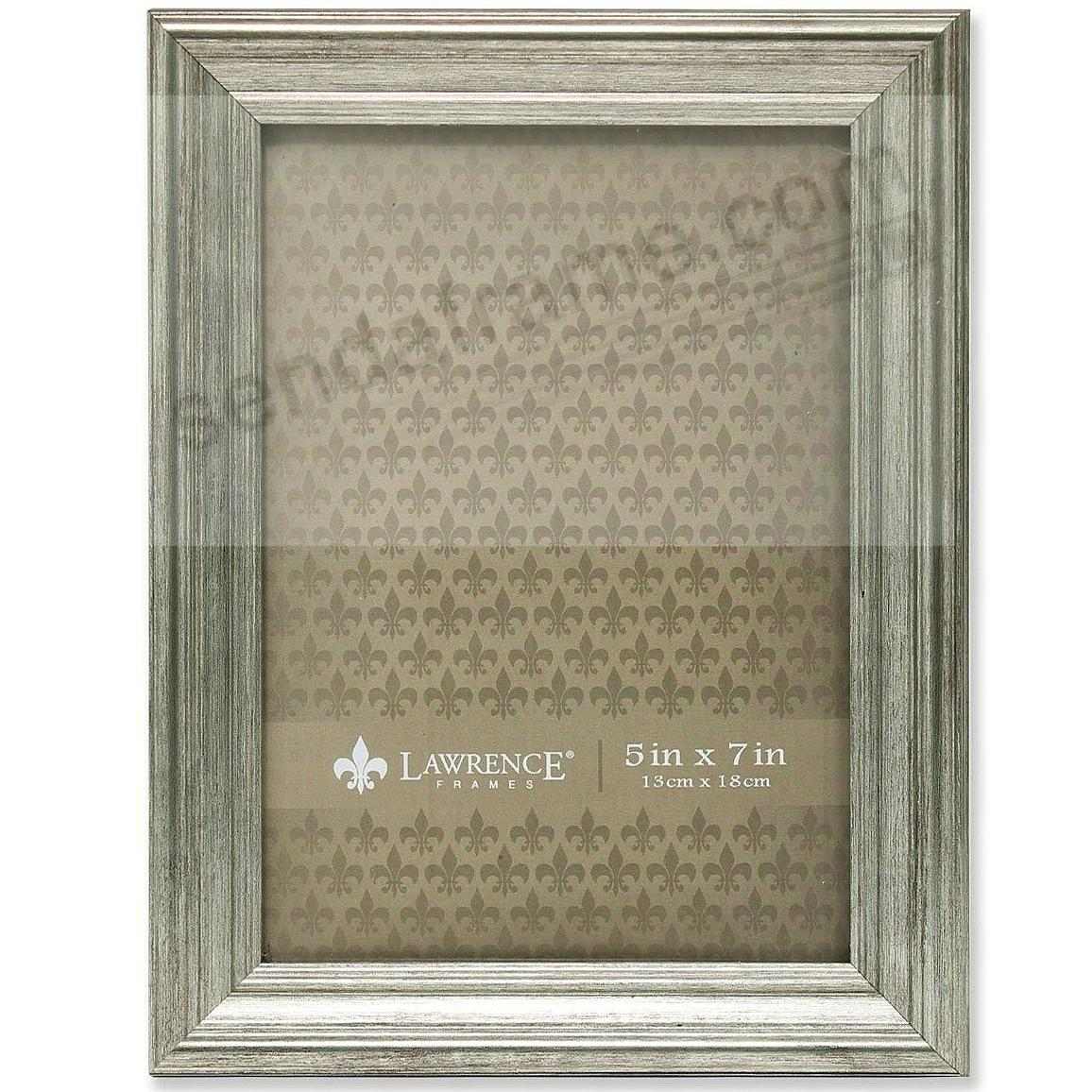 SUTTER Satin Silver composite wood 5x7 frame by Lawrence®