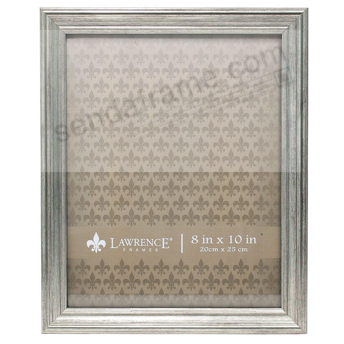 SUTTER Satin Silver composite wood 8x10 frame by Lawrence®
