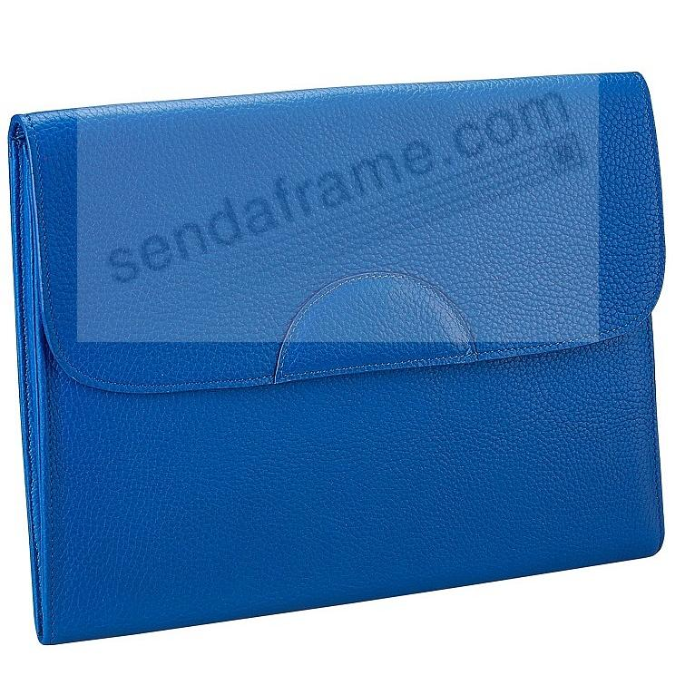 PORTFOLIO CASE Cobalt-Blue Pebble-Grain Fine Leather by Graphic Image™