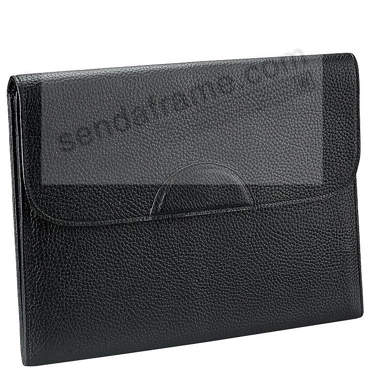 PORTFOLIO CASE Black Pebble-Grain Fine Leather by Graphic Image™