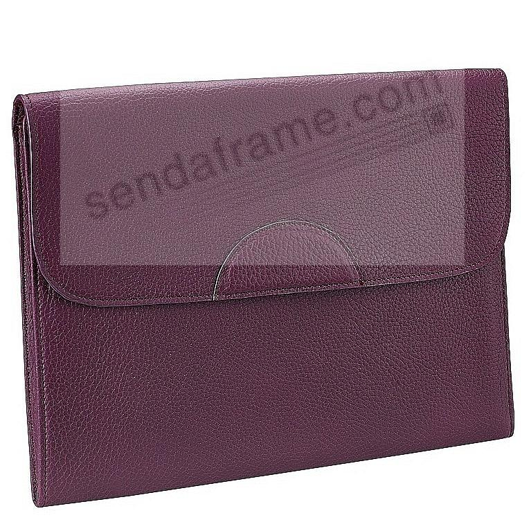 PORTFOLIO CASE Wine Pebble-Grain Fine Leather by Graphic Image™