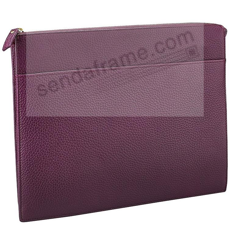 ATTACHE CASE Wine Pebble-Grain Fine Leather by Graphic Image™