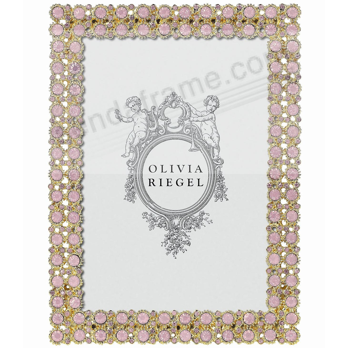 PRISCILLA PINK OPAL Crystal 4x6 frame by Olivia Riegel®