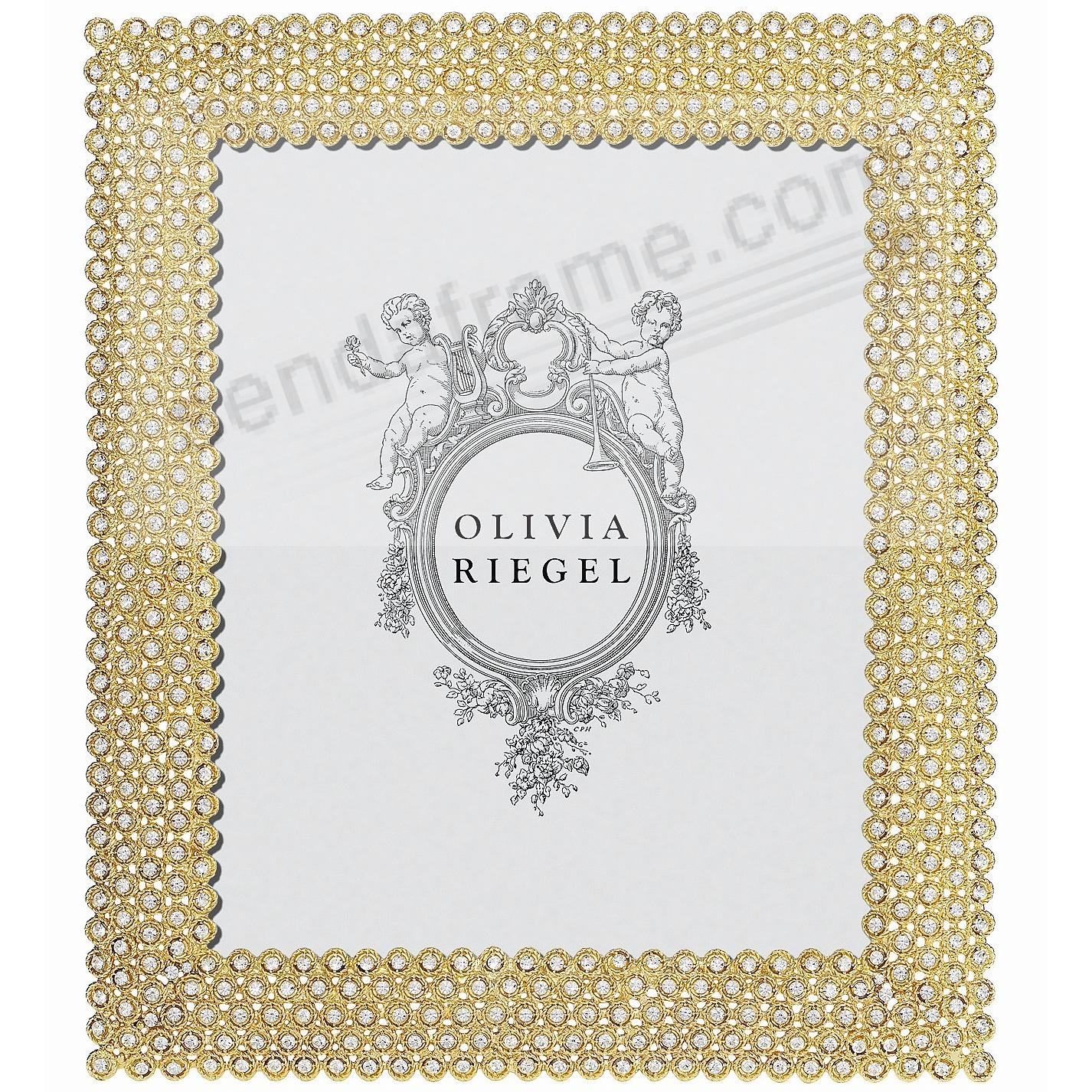 GOLD ALEXIS Austrian Crystal 8x10 frame by Olivia Riegel®