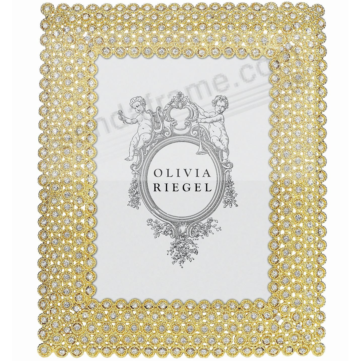GOLD ALEXIS Austrian Crystal 5x7 frame by Olivia Riegel®