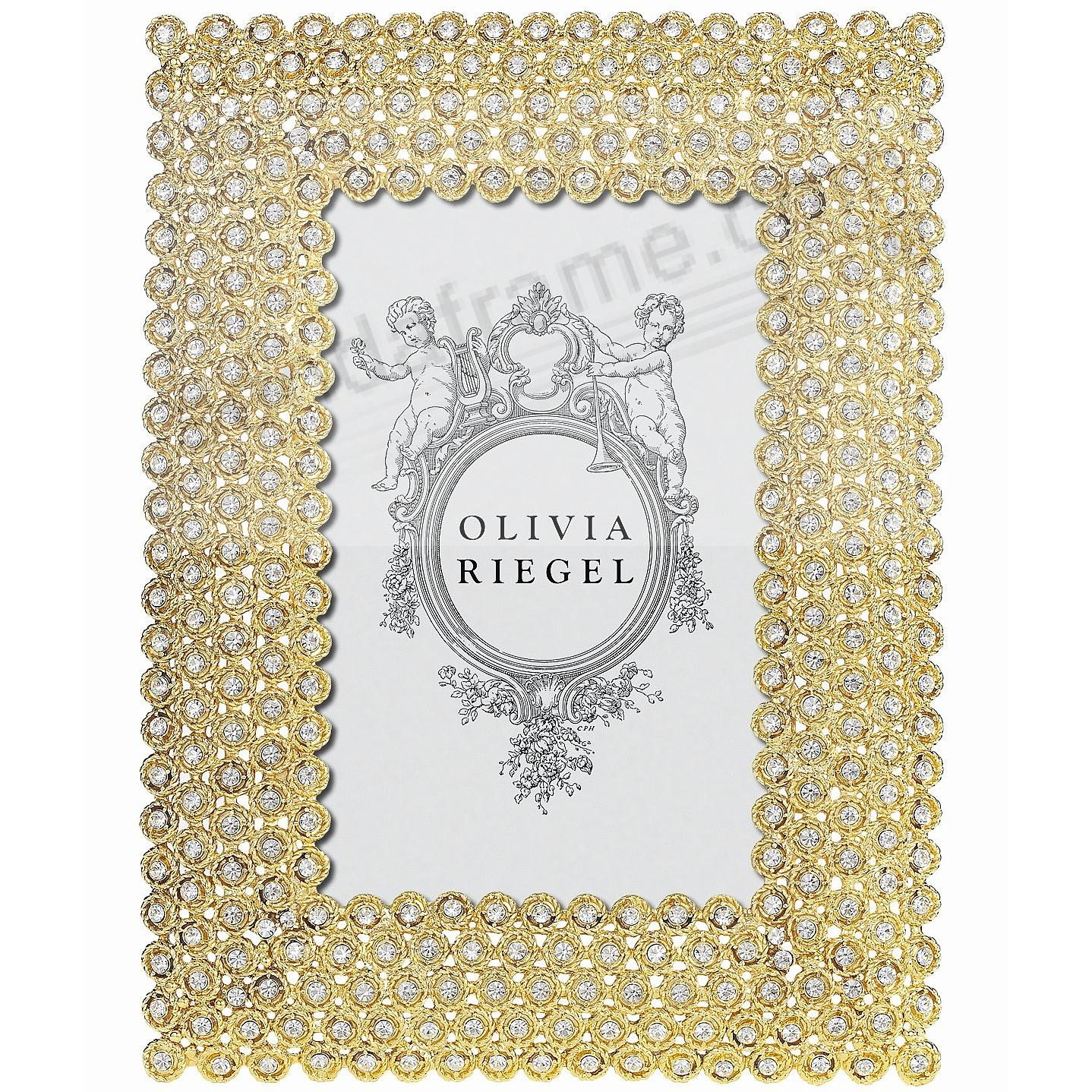 GOLD ALEXIS Austrian Crystal 4x6 frame by Olivia Riegel®