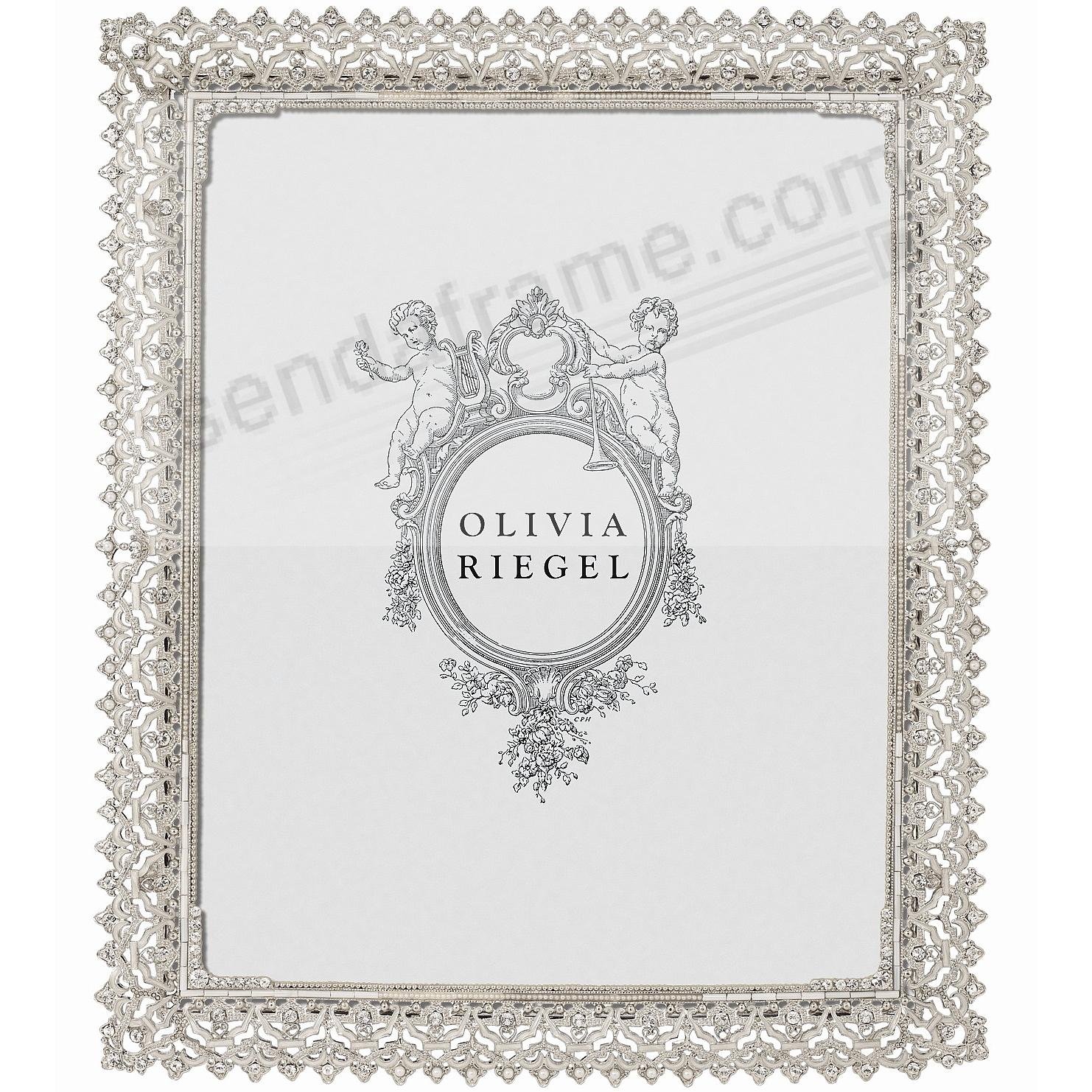 NOBLE SILVER Austrian Crystal 8x10 frame by Olivia Riegel®