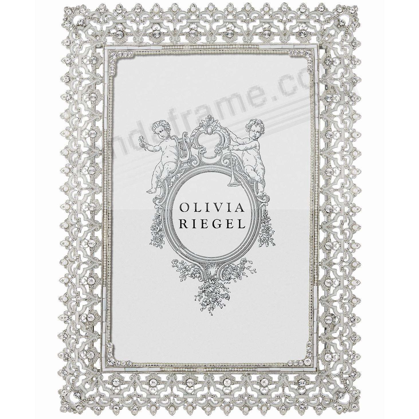 NOBLE SILVER Austrian Crystal 5x7 frame by Olivia Riegel®