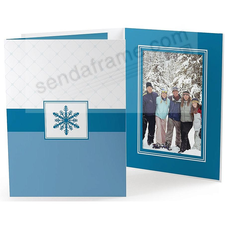 SNOWFLAKE Holiday Photo Folder for 5x7 (portrait) prints