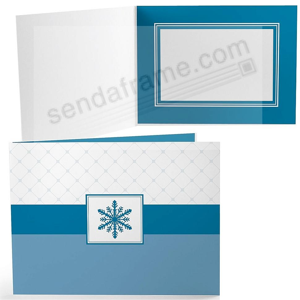 SNOW FLAKE Holiday Photo Folder for 7x5 (landscape) prints