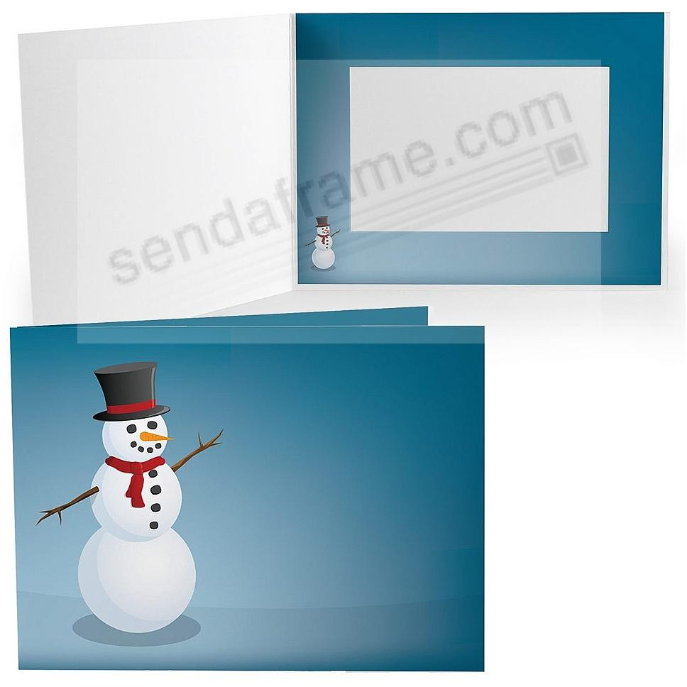 JOYFUL SNOWMAN Holiday Photo Folder for 6x4 (landscape) prints (sold in 25's)