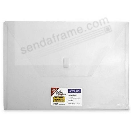 The original PolyEnvelope-Clear w/velcro and Business Card Slot by Itoya®