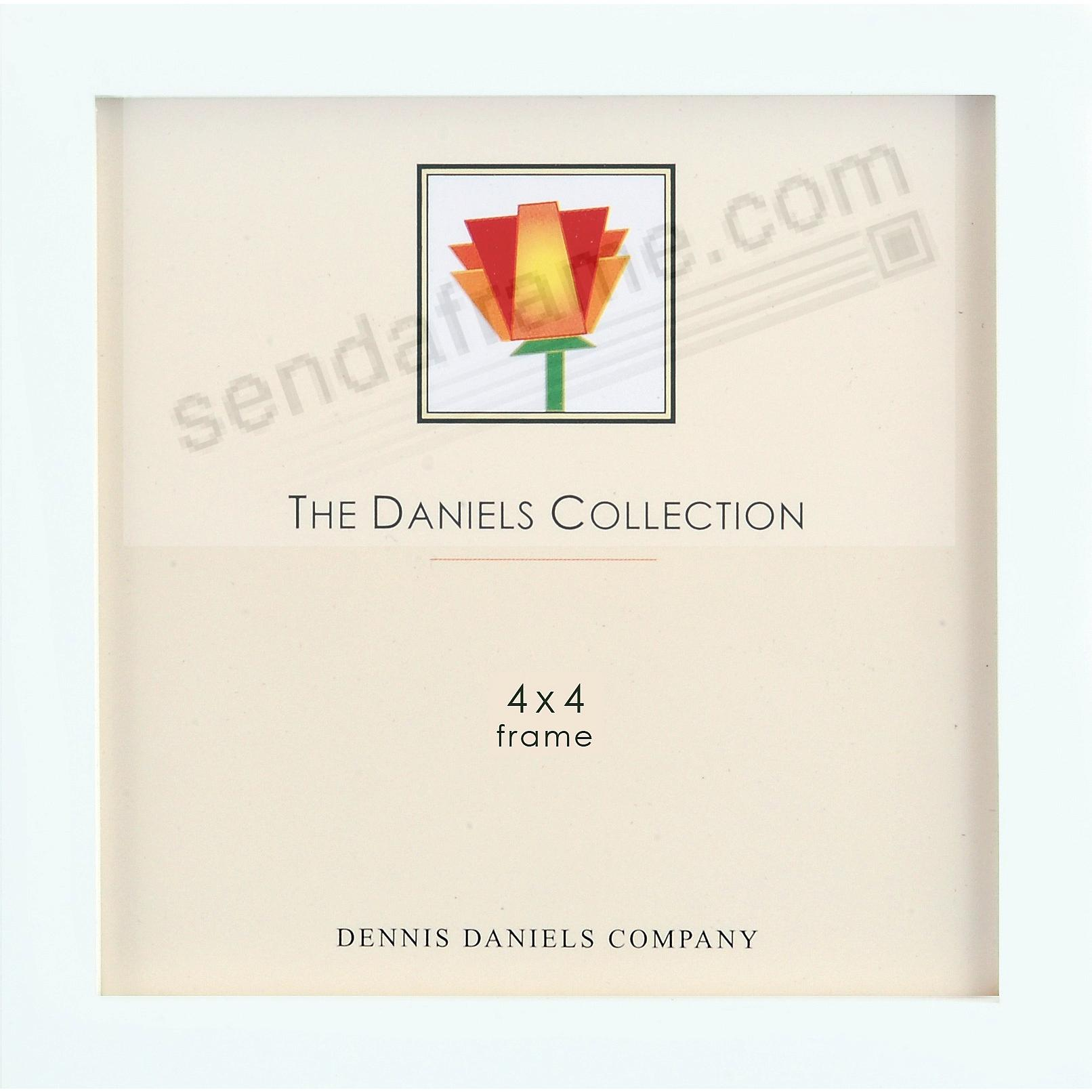 The Original DANIELS W41: Square Corner GALLERY WOODS Bright White finish square 4x4 frame by Dennis Daniels®