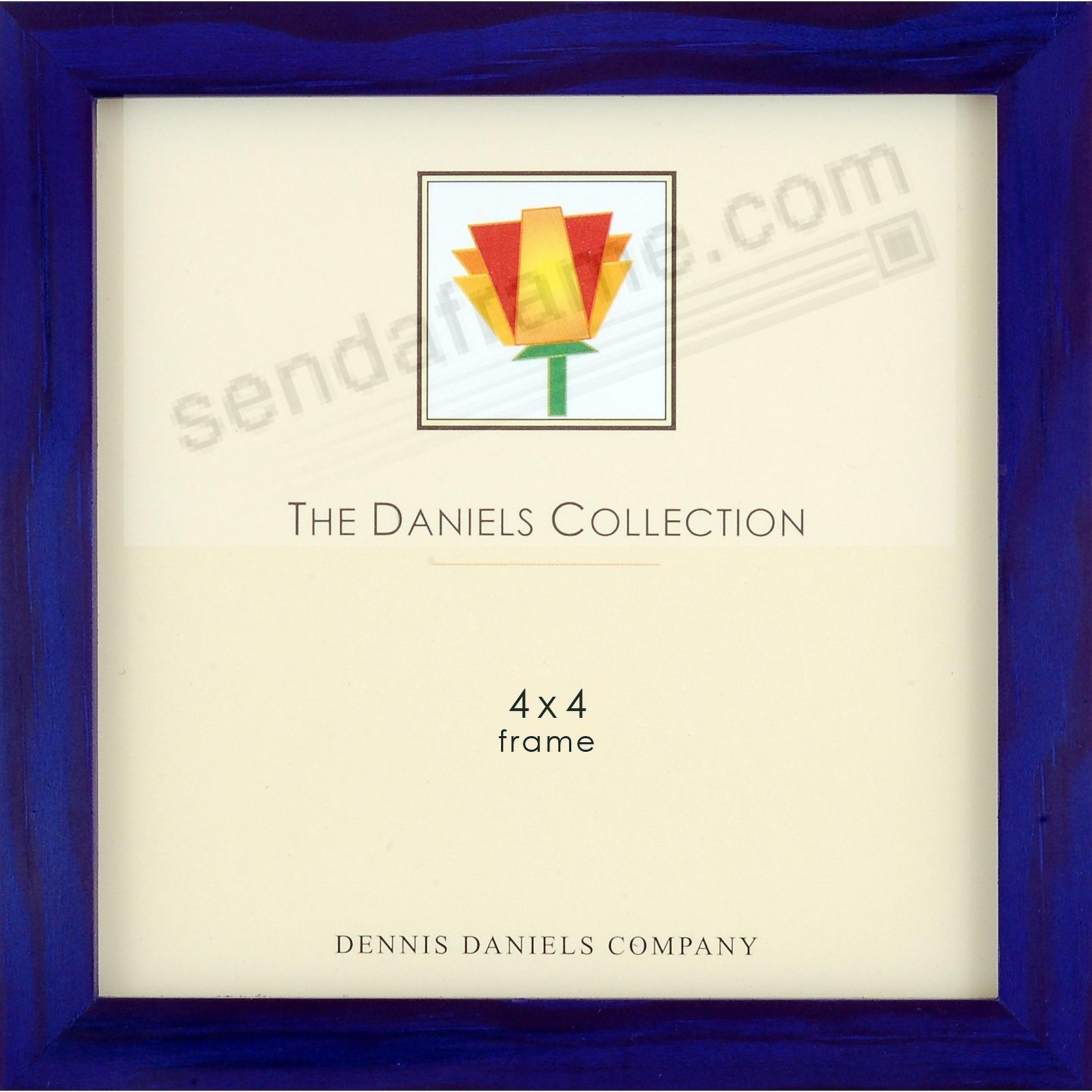 The Original W41 Square Corner GALLERY WOODS hard-to-find 4x4 indigo-blue by Dennis Daniels®
