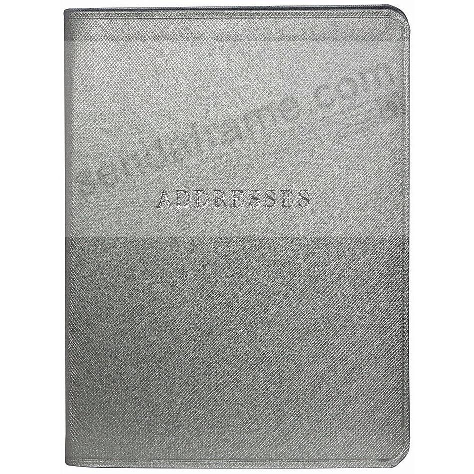 Silver Eco-leather Address Book by Graphic Image™