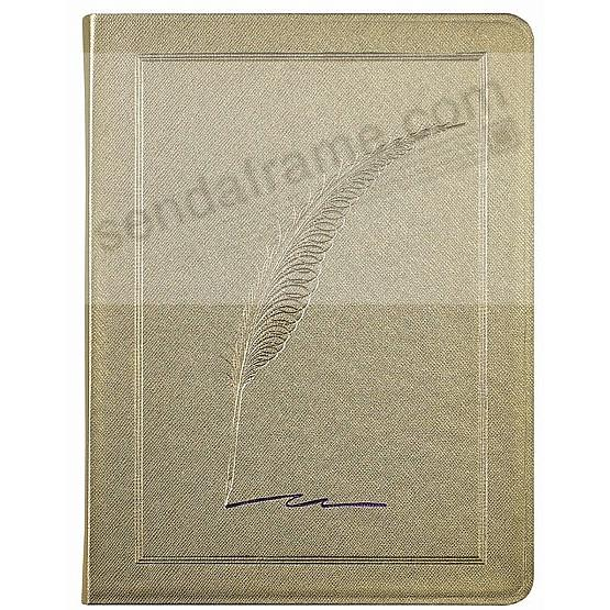 Saffiano-Gold QUILL Eco-leather 9in Large Journal by Graphic Image™