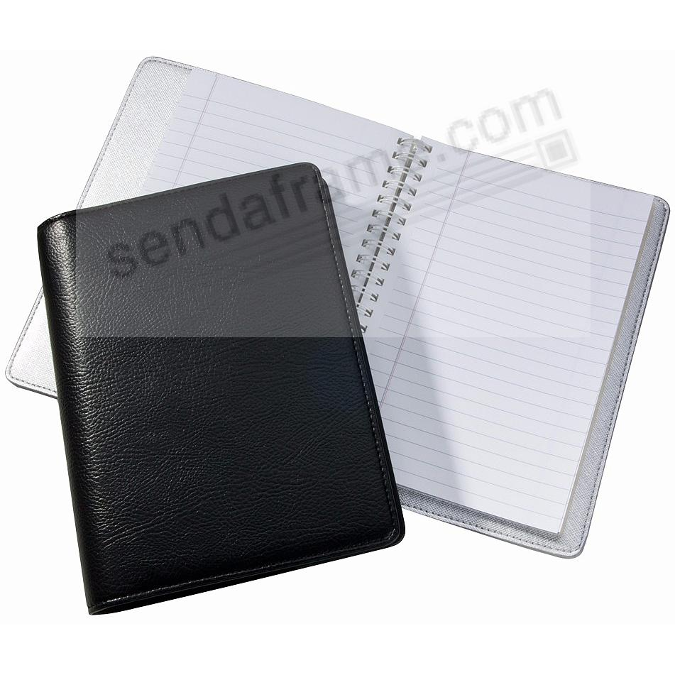 Wire-O-Notebook 7in Black Eco-Leather by Graphic Image™