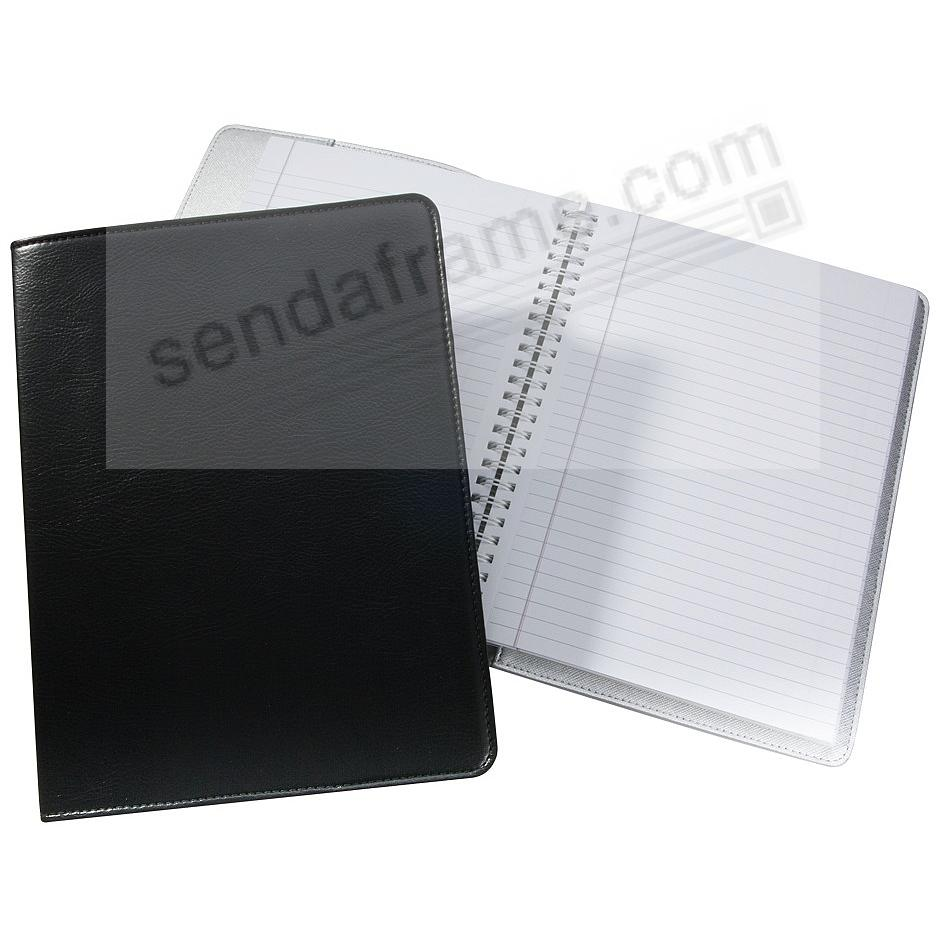 Wire-O-Notebook 9-inch Black Eco-Leather by Graphic Image™