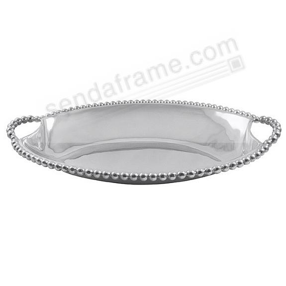 LARGE DEEP DISH SERVER in Pearl Bead motif by Mariposa®