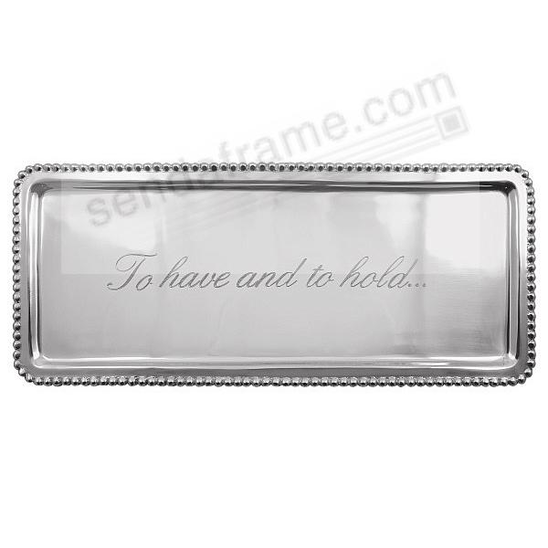 Statement Tray (LONG) TO HAVE AND TO HOLD crafted by Mariposa®