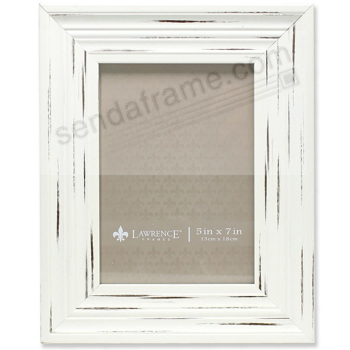 RICHMOND Weathered/Antique Ivory Ridged Wood Frame by Lawrence®