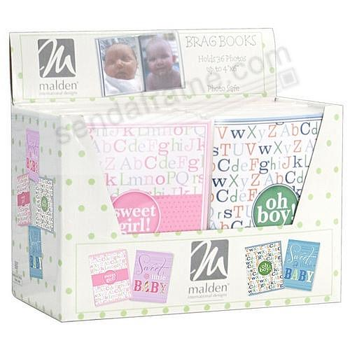 OH BOY! BRAGBOOKS by Malden® hold 24 photos (sold in 4's)