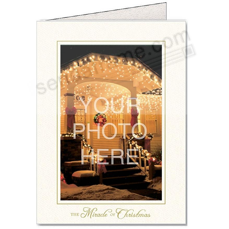 Bright-White THE MIRACLE OF CHRISTMAS Photo Insert Card (sold in 10s)