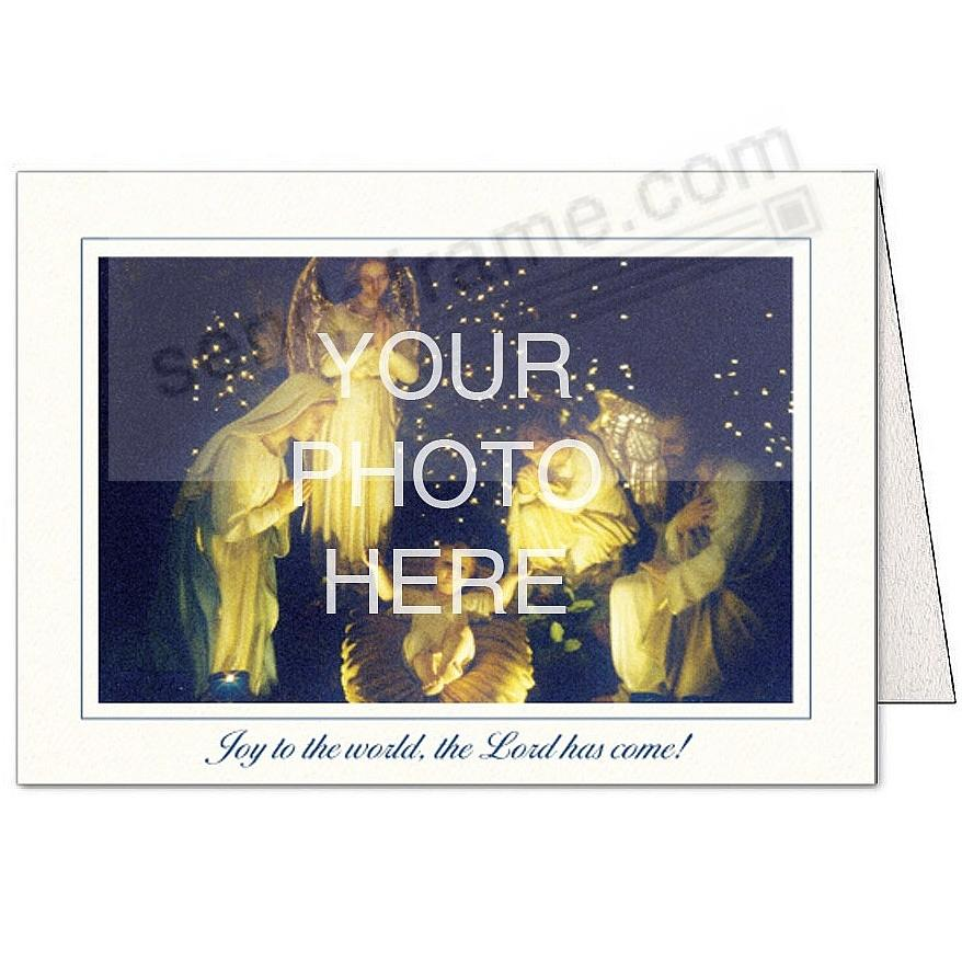 Bright-White JOY TO THE WORLD... Photo Insert Card (sold in 10s)