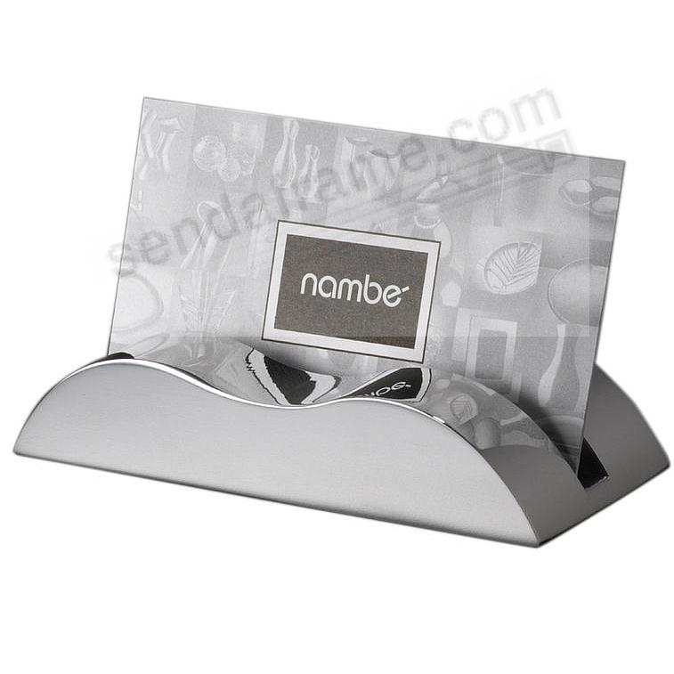 The Original WAVE Card Holder by Nambe®