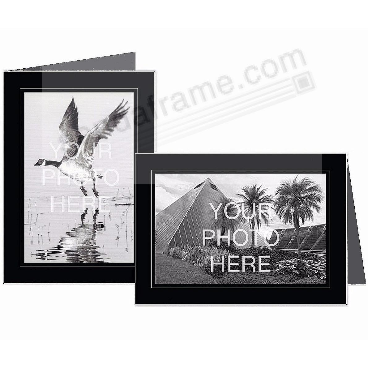 Black w/Grey Trim Border 5x7 Photo Insert Card (sold in 10s)