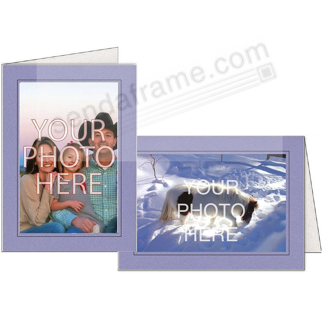 PERIWINKLE w/Black Trim Border Photo Insert Card (sold in 10s)
