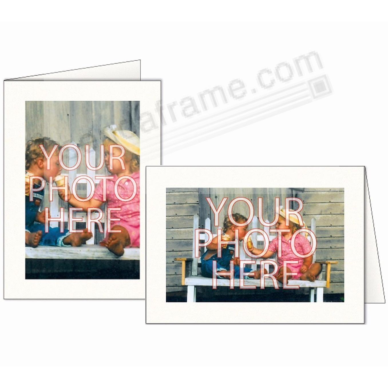 Premium BRIGHT-WHITE Photo Insert Card (sold in 10s)
