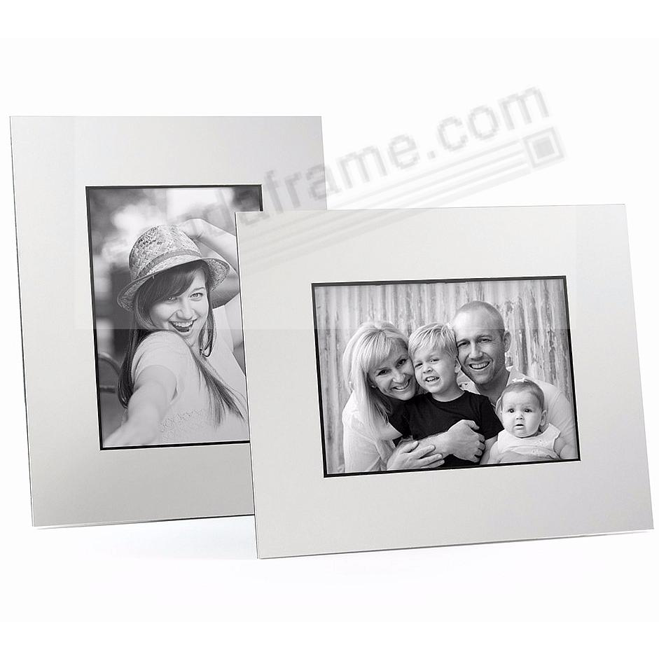 WHITE/Black Core BEVEL-CUT Easel 5x7 Frame Paper Stock (sold in 5s)