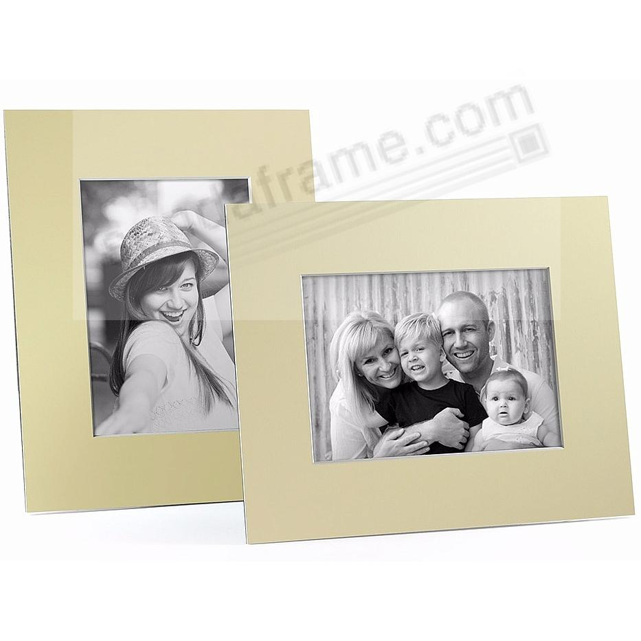 YELLOW/White Core BEVEL-CUT Easel 5x7 Frame Paper Stock (sold in 5s)