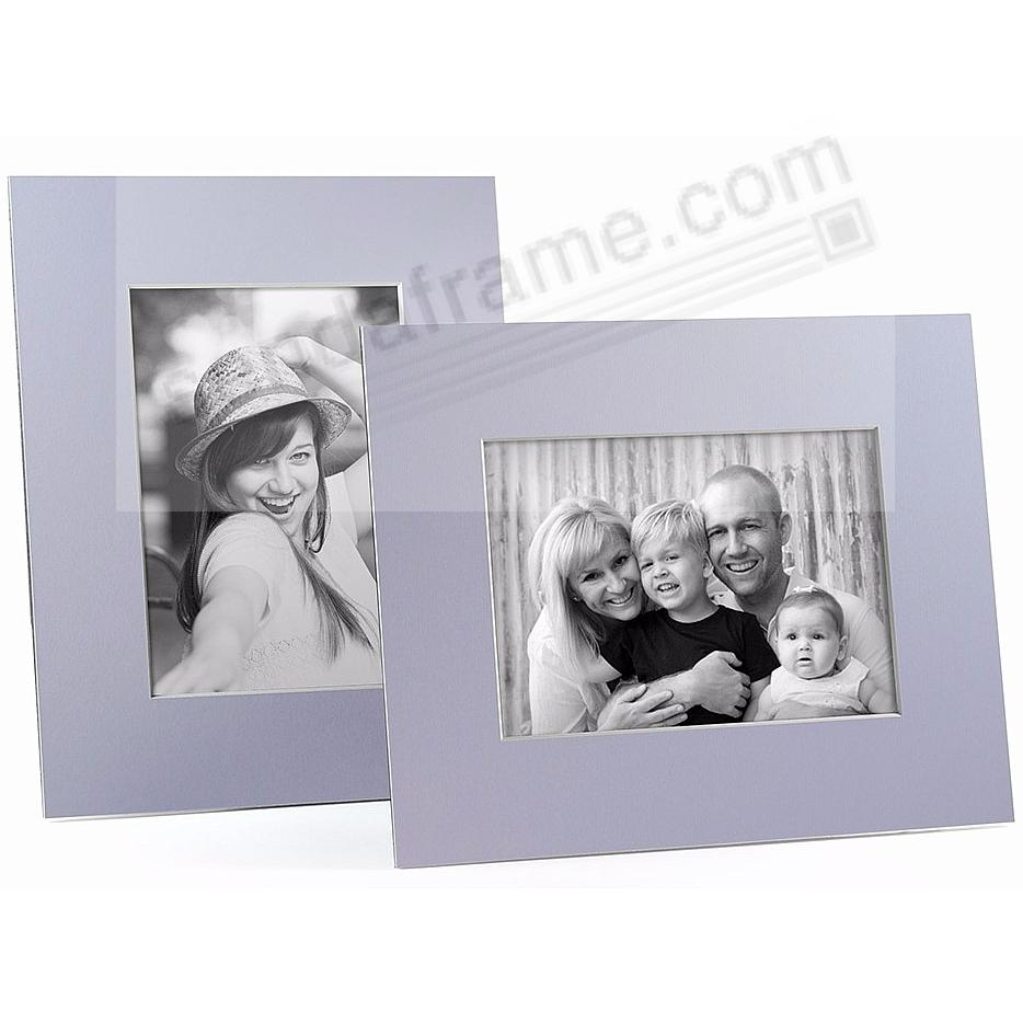 LILAC/White Core BEVEL-CUT Easel 8x10 Frame Paper Stock (sold in 6s)