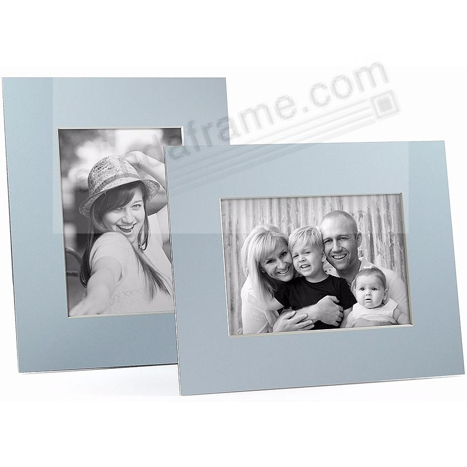 LT BLUE/White Core BEVEL-CUT Easel 4x6 Frame Paper Stock (sold in 5s)
