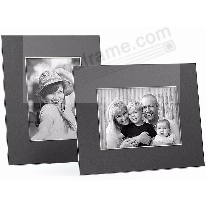 GRAY/White Core BEVEL-CUT Easel 4x6 Frame Paper Stock (sold in 6s)