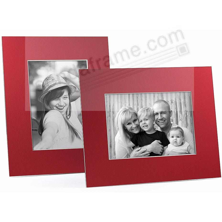 RED/White Core BEVEL-CUT Easel 5x7 Frame Paper Stock (sold in 6s)