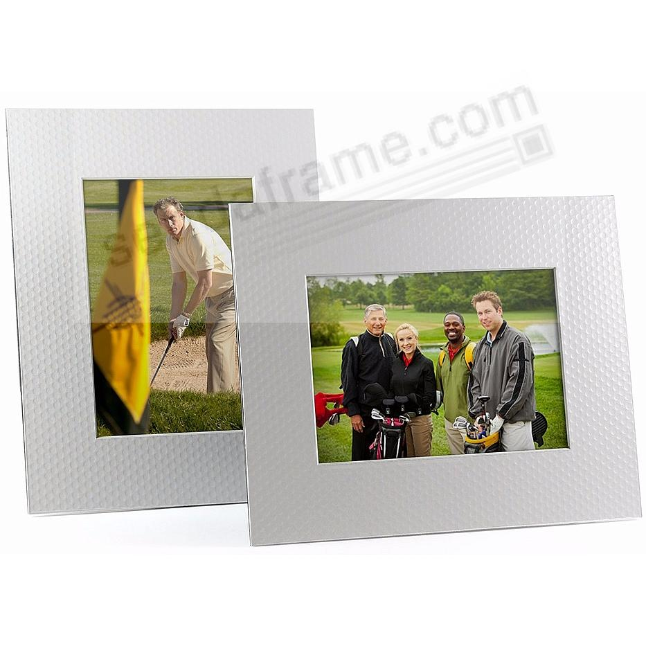 WHITE GOLF BALL DIMPLE BEVEL-CUT Easel 5x7 Frame Paper Stock (sold in 6s)