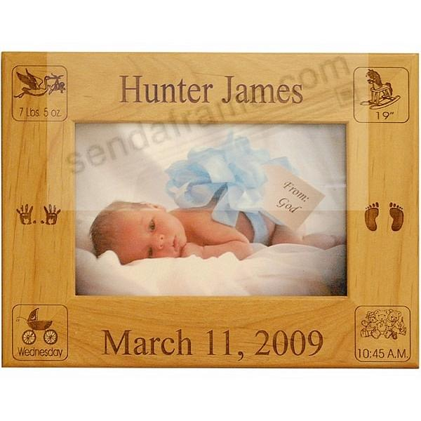 BABY BIRTH RECORD Personalized Laser Etched keepsake frame