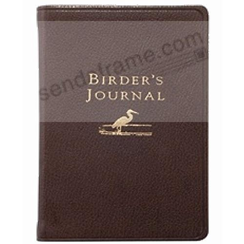 Pocket-size BIRDERS JOURNAL Brights-Mocha leather by Graphic Image™