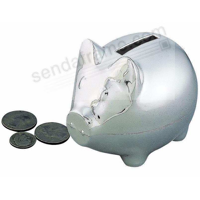 Adorable Polished Silverplate PIGGY BANK (Small)