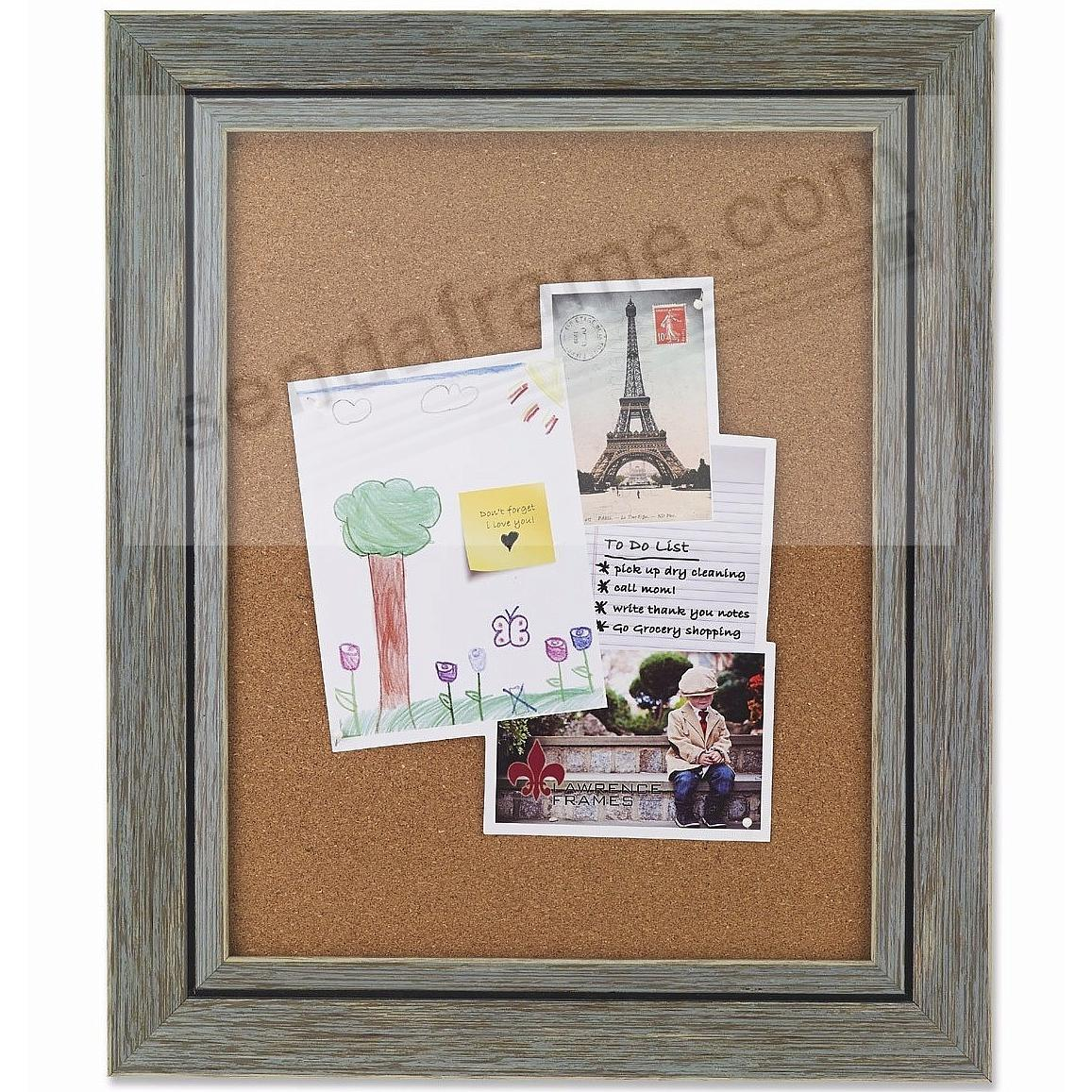 Gray Weathered Barnwood Framed Corkboard by Lawrence®