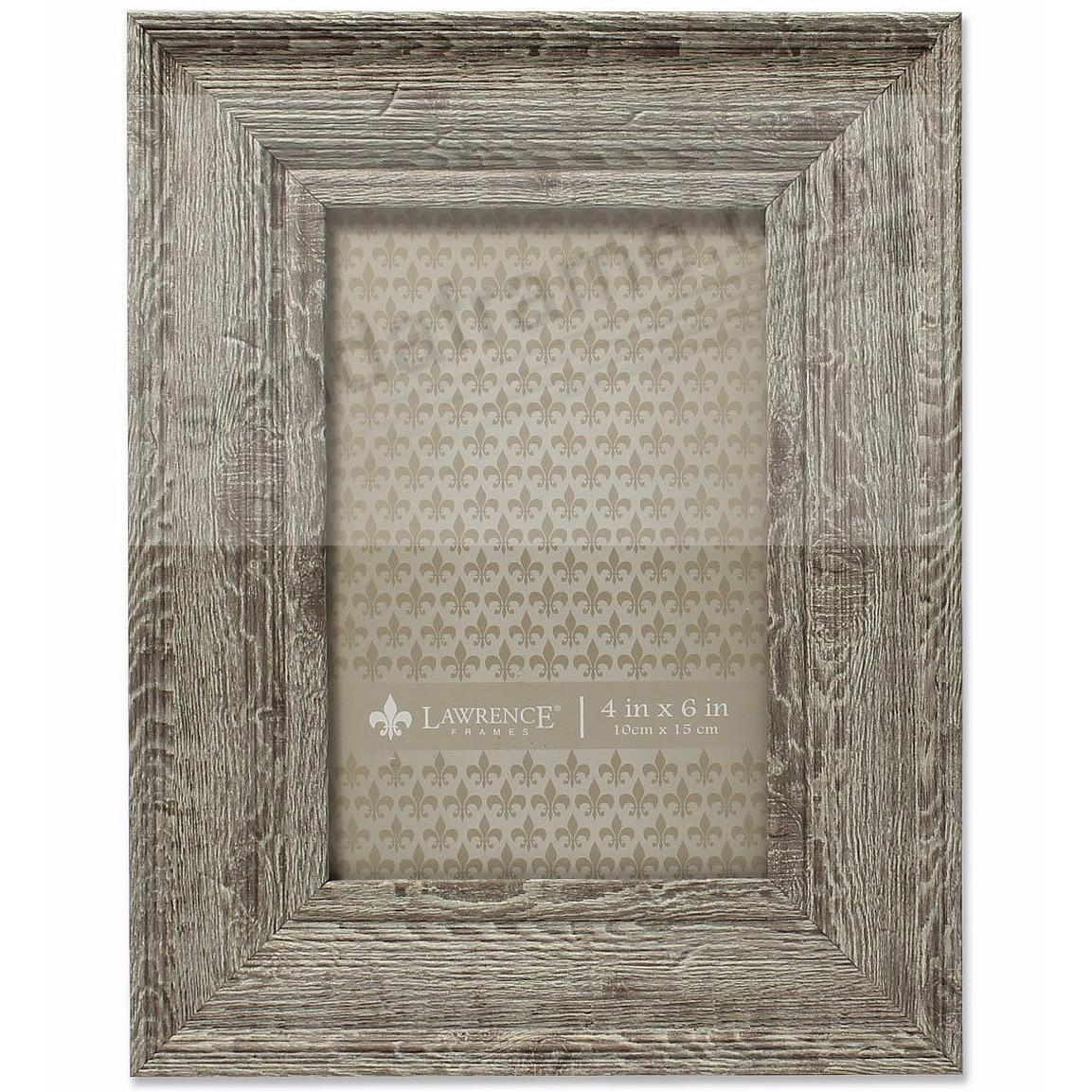 Weathered Harvest-Brown Barnwood 4x6 Frame by Lawrence®