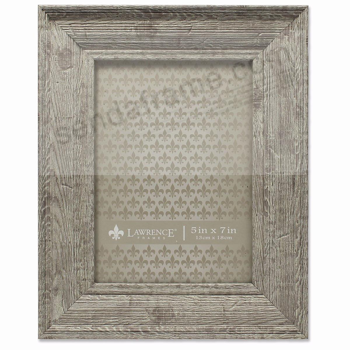 Weathered Harvest-Brown Barnwood 5x7 Frame by Lawrence®