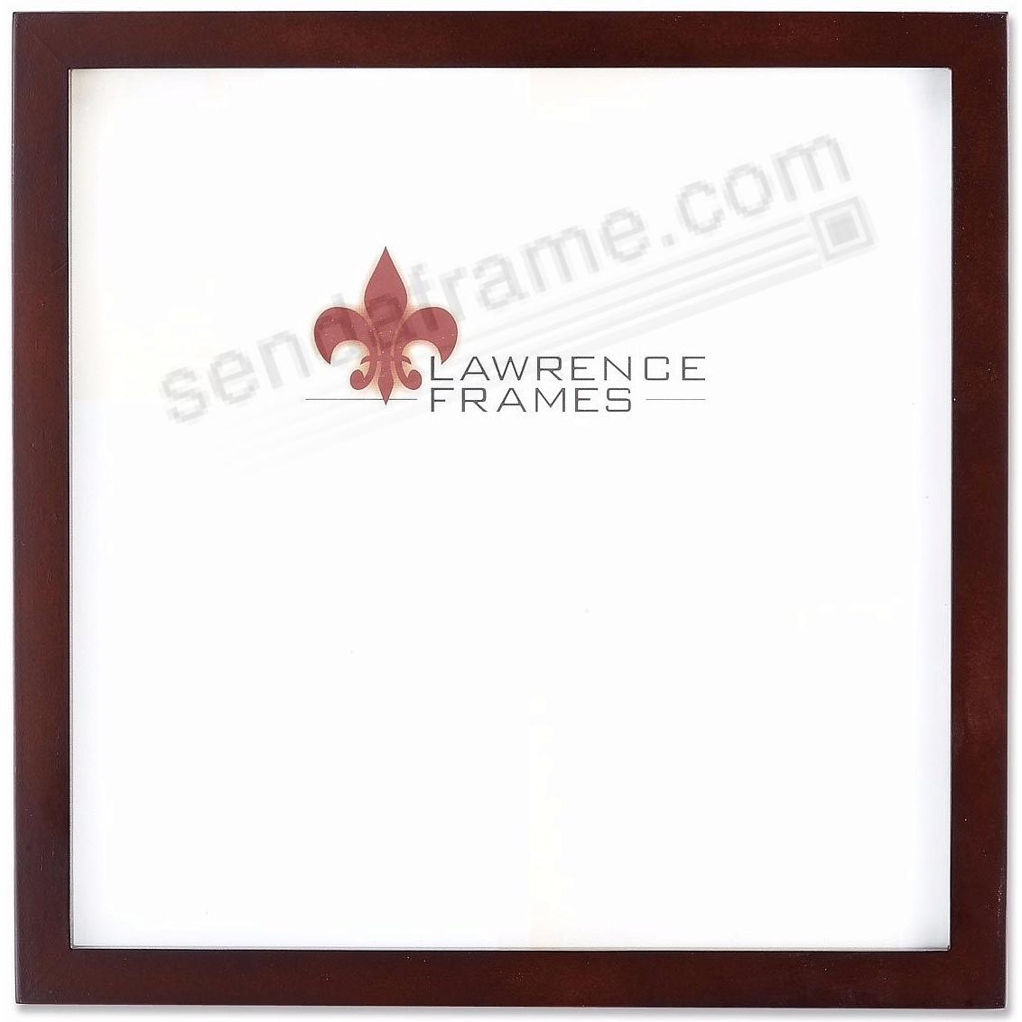 SQUARE CORNER Expresso-Brown Stain classic 12x12 frame by Lawrence Frames®