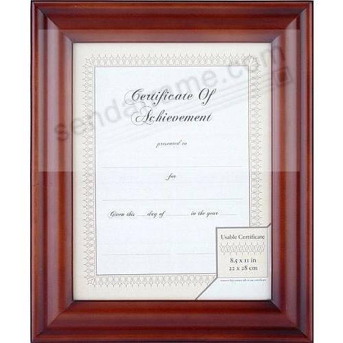 WALNUT 8½x11 Certificate frame by Gallery Solutions®