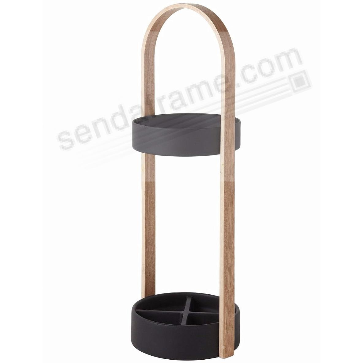 The Original HUB UMBRELLA STAND in Black and Natural by Umbra®