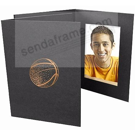 BASKETBALL Foil<br>on black cardboard photo folder
